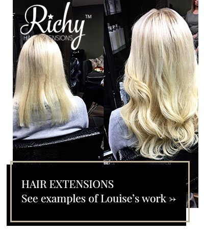 Hair Extensions: See examples of Louise's work