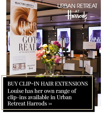 Buy Clip-In Hair Extensions: Louise has her own range of  clip-ins available in Urban Retreat Harrods