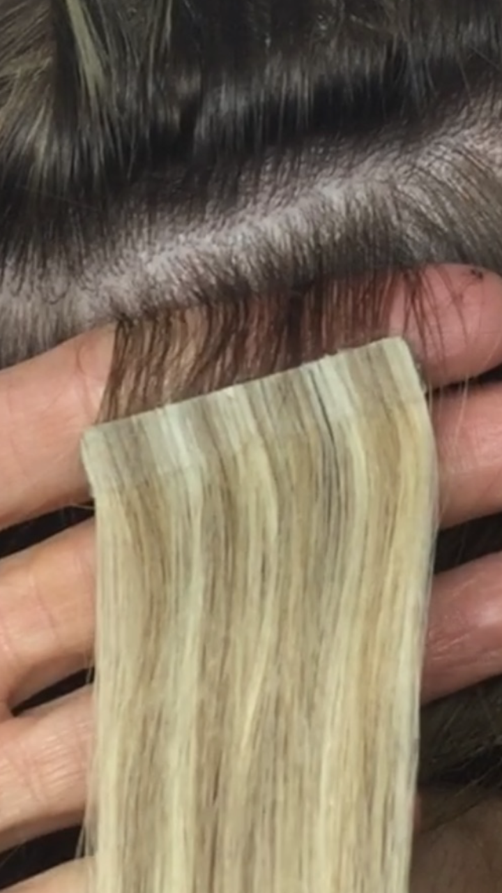 About Tape Extenions By Louise Bailey Hair Extensions London