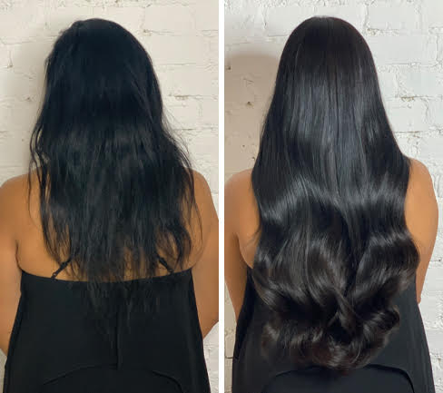 black-extensions-before-after