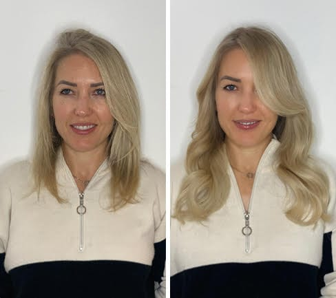 blonde-hair-extensions-before-after